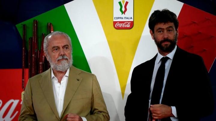 Napoli and Juventus presidents De Laurentiis and Agnelli