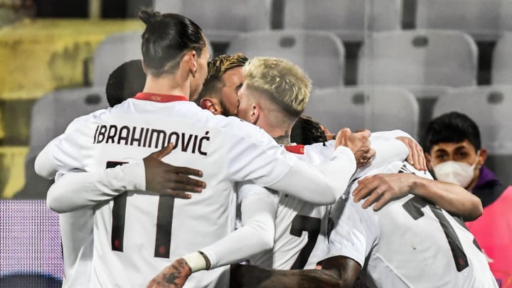 Milan edged Fiorentina on Sunday