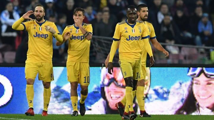 Juventus stars Gonzalo Higuain, Paulo Dybala, Blaise Matuidi and Sami Khedira