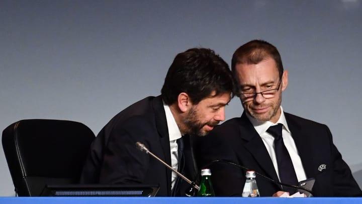 Andrea Agnelli e Aleksander Ceferin