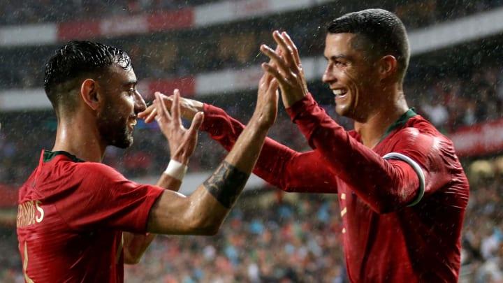 Bruno Fernandes e Cristiano Ronaldo