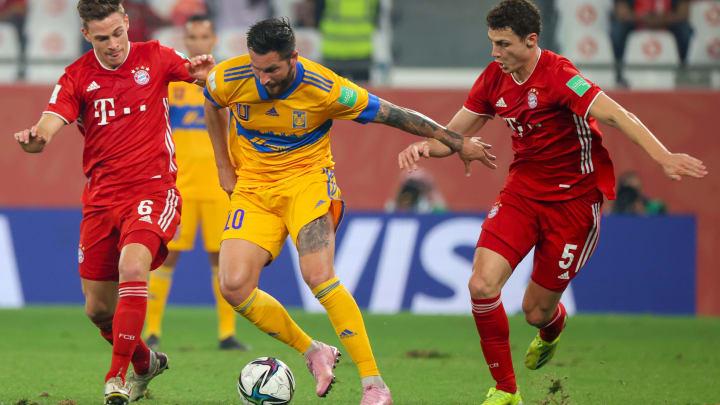 André-Pierre Gignac face au Bayern Munich en finale de la Coupe du Monde des Clubs.