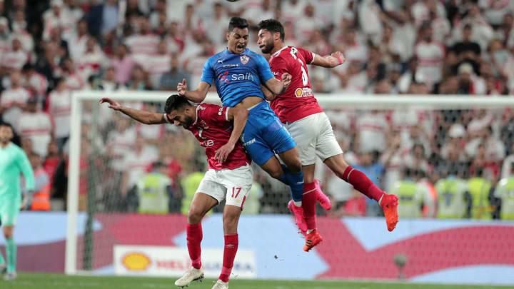 Mostafa Mohamed (au centre) est le prochain attaquant des Verts.