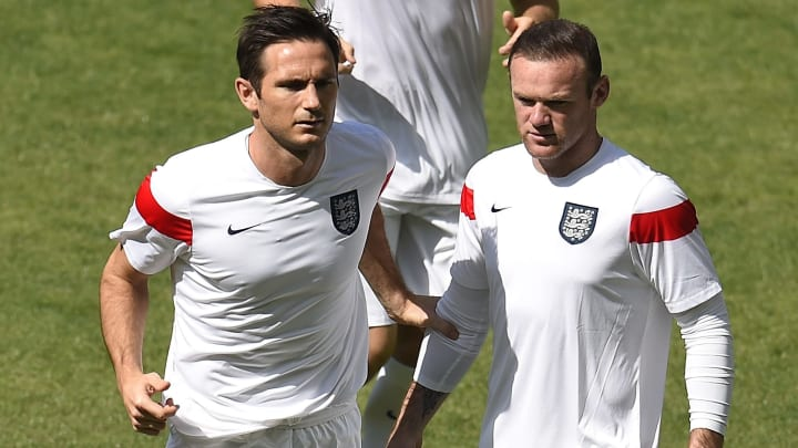 Wayne Rooney partnered with Frank Lampard for England