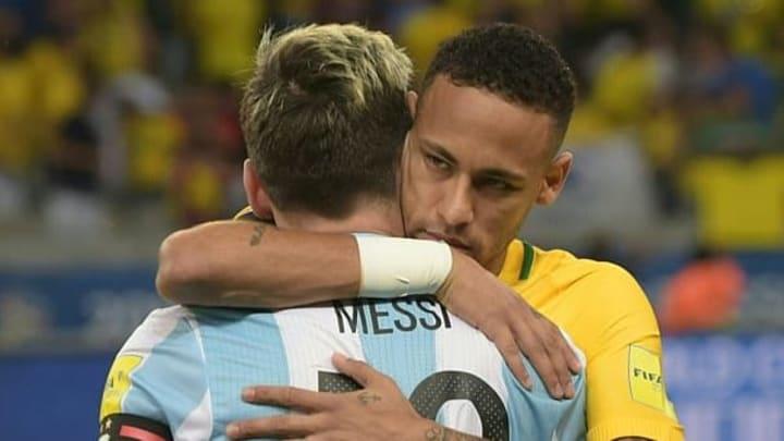 Brasil x Argentina Neymar Messi
