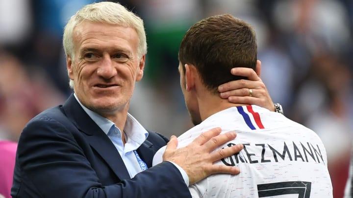 Didier Deschamps et Antoine Griezmann lors du Mondial 2018.