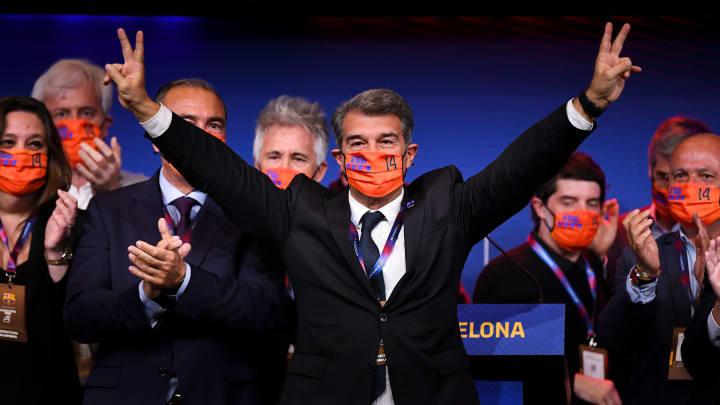 Joan Laporta, presidente electo del FC Barcelona por segunda vez