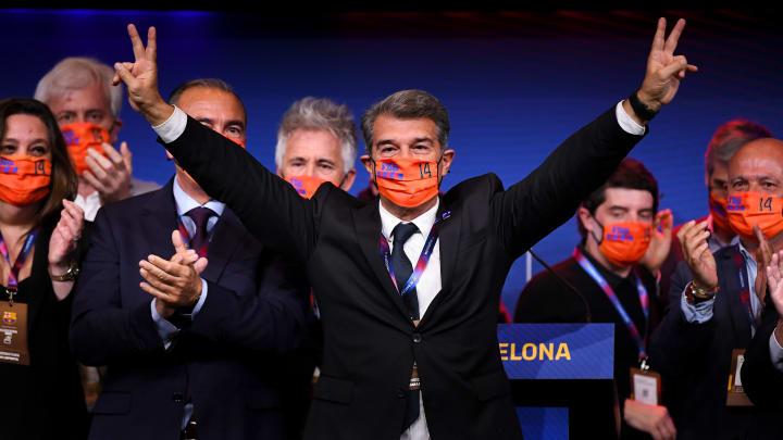 Marca, As e outros veículos da Espanha repercutem primeiro dia do mandato de Joan Laporta no Barcelona.