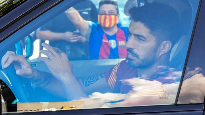 Luis Suárez bei der Ankunft auf dem Trainingsgelände der Azulgrana