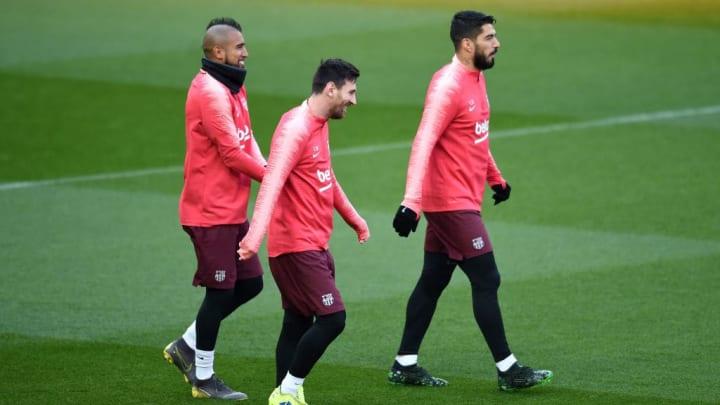 Lionel Messi, Luis Suarez, Arturo Vidal