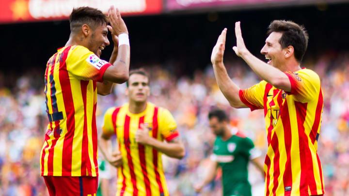 Neymar et Messi sous les couleurs de la Catalogne