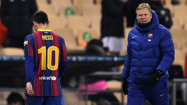Ronald Koeman did not speak to Lionel Messi after his red card