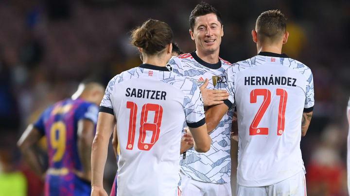 Robert Lewandowski (au centre) a évidemment marqué pour le Bayern.