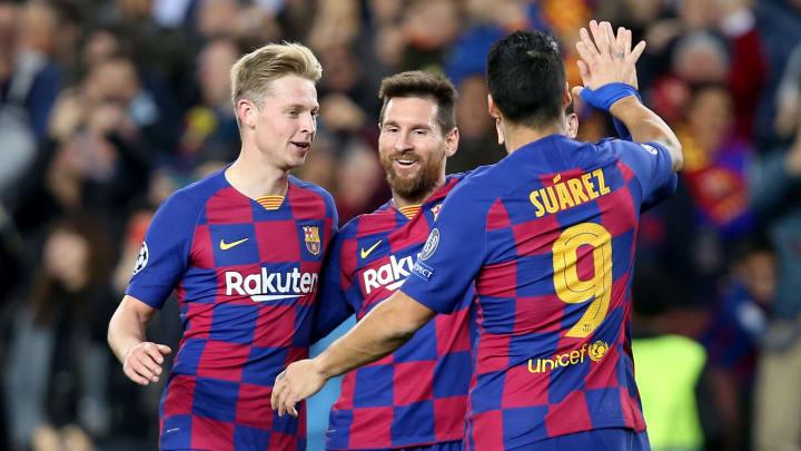 Frenkie de Jong, Lionel Messi, Antoine Griezmann, Luis Suarez
