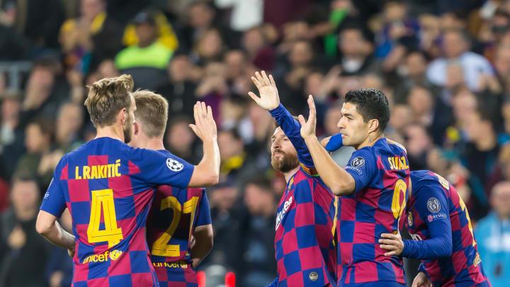 Ivan Rakitic, Lionel Messi, Luis Suarez, Antoine Griezmann