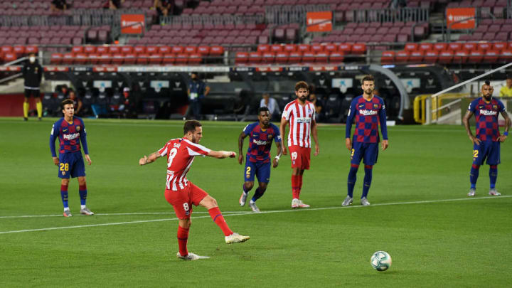 Saul Niguez scored Atletico's first half equaliser from the spot