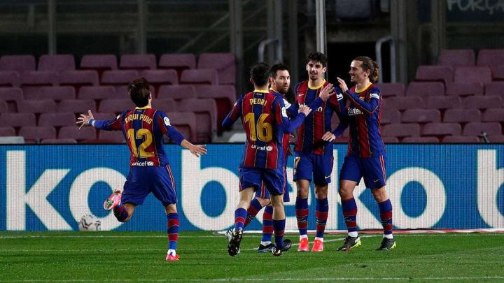Francisco Trincao, Ricard Puig Marti, Pedri, Lionel Messi, Antoine Griezmann