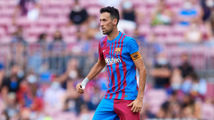 Busquets was one of the senior players forced to take a paycut this summer