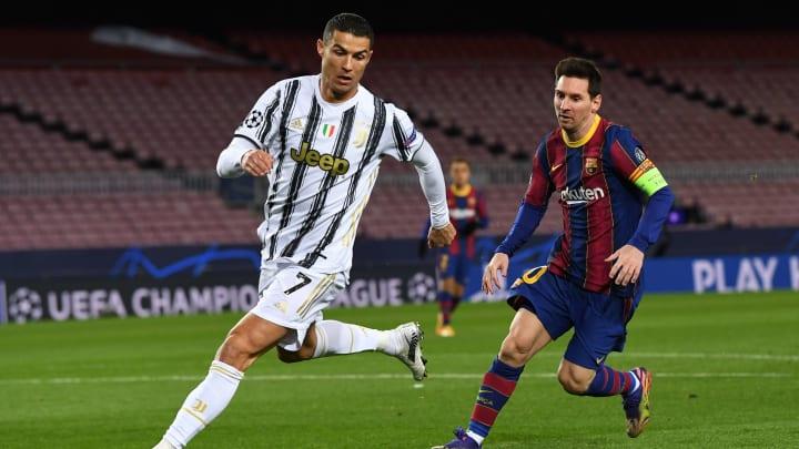 Cristiano Ronaldo y Leo Messi la última vez que se enfrentaron