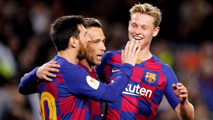 Arthur, Frenkie De Jong, Lionel Messi