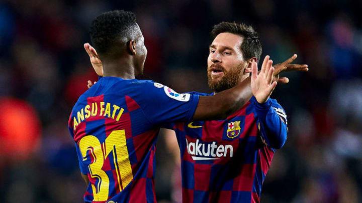 Anssumane Fati, Lionel Messi