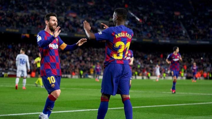 Ansu Fati, Lionel Messi