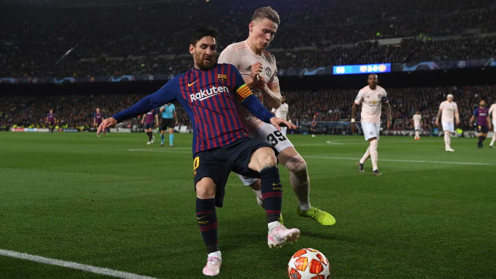 Scott McTominay faced Messi in the Champions League in 2019