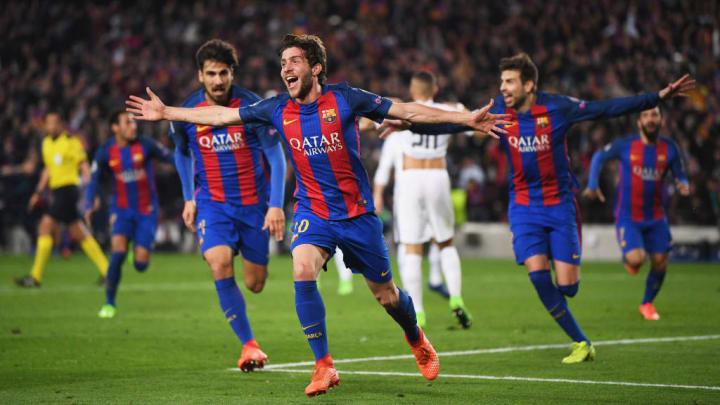 Sergi Roberto marcó un tanto histórico en el Camp Nou