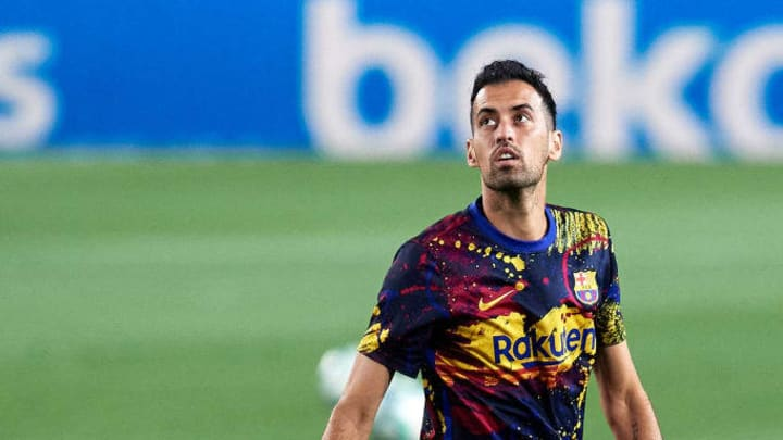 Busquets will miss the game through suspension.