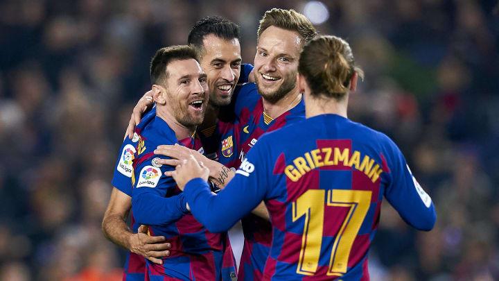 Antoine Griezmann, Lionel Messi, Sergio Busquets, Ivan Rakitic