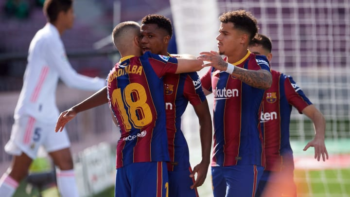 Ansu Fati, Jordi Alba, Philippe Coutinho