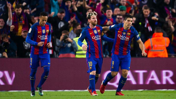 Luis Suarez, Neymar Santos Jr, Lionel Messi