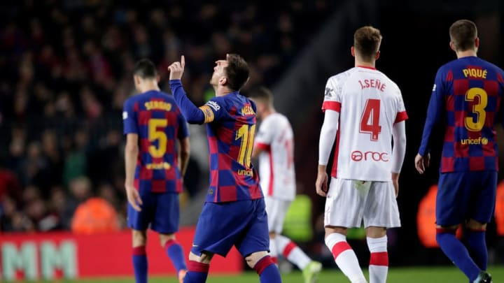Lionel Messi scored a hat trick against Mallorca back in December