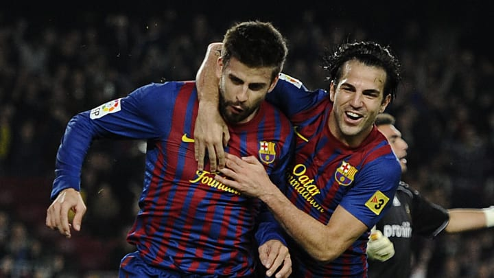 Gerard Pique, Cesc Fabregas Espanha Barcelona Premier League