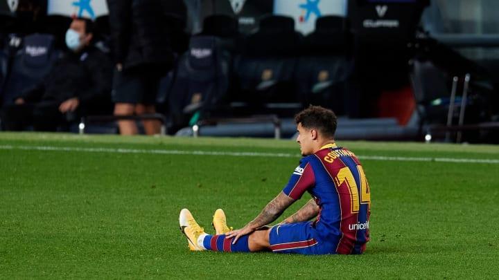 Philippe Coutinho pode não atuar mais na temporada pelo Barcelona. Meia também corre riscos de ficar fora da Copa América.