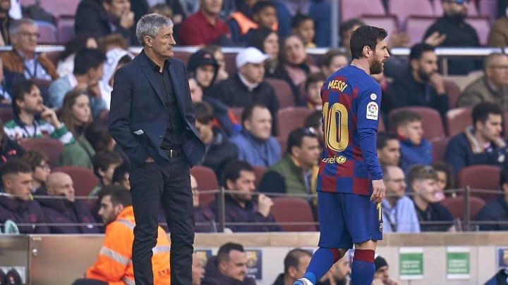 Lionel Messi, Quique Setien
