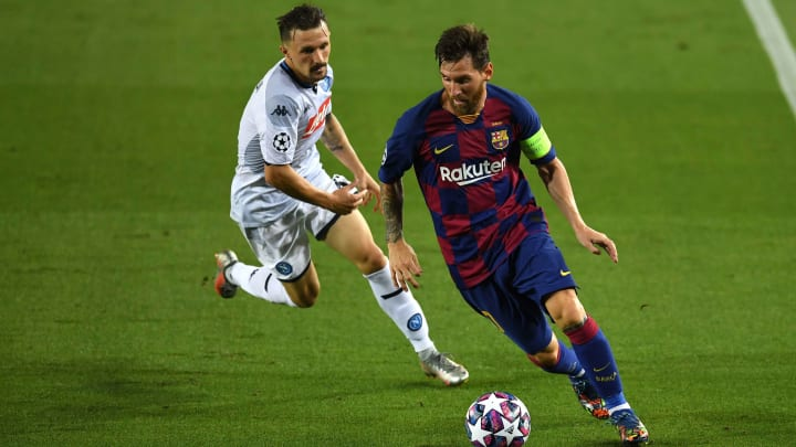 Messi was at his relentless best against Napoli on Saturday evening