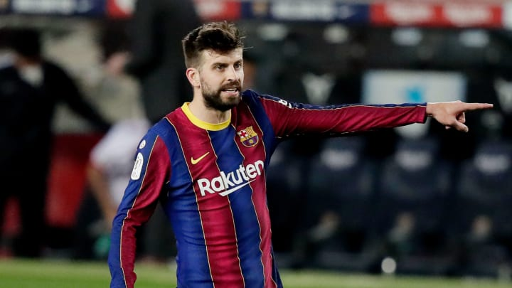 Gerard Pique looks set to miss Barcelona's Champions League clash with PSG