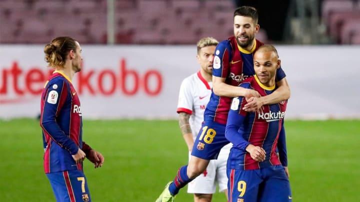 Jordi Alba et Martin Braithwaite pourraient quitter Barcelone.