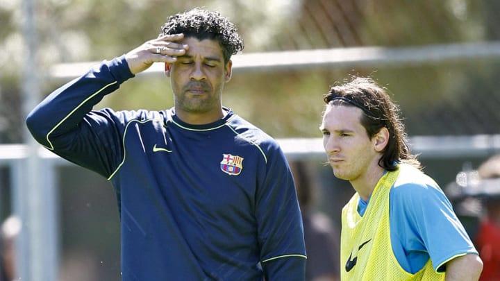 FC Barcelona's Dutch coach Frank Rijkaar