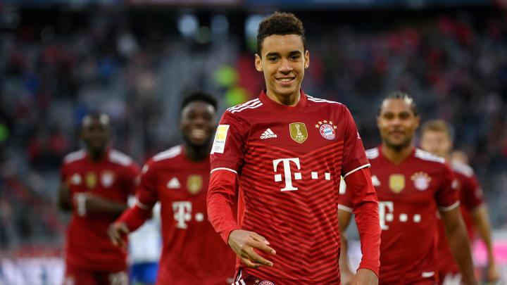 Dank Jamal Musiala haben die Profis beim FC Bayern München vermehrt Grund zum Jubeln.