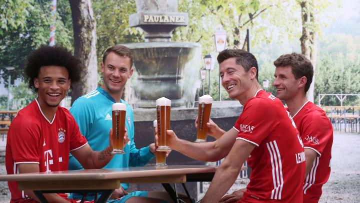 Leroy Sane, Manuel Neuer, Robert Lewandowski, Thomas Müller
