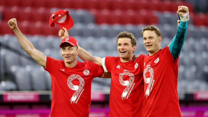 Thomas Müller, Manuel Neuer, Robert Lewandowski