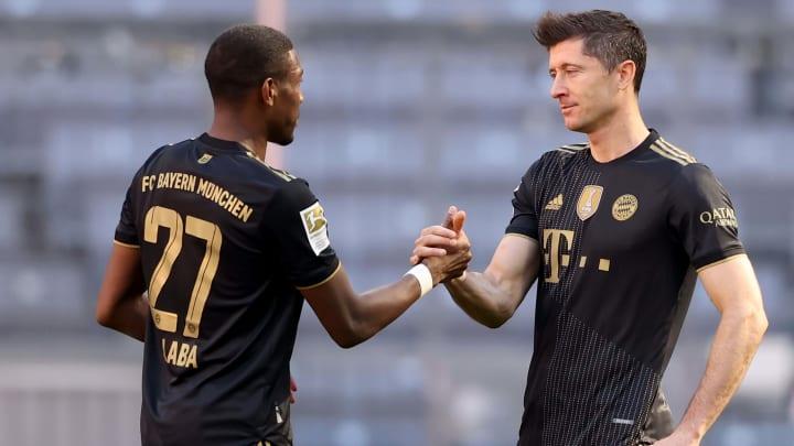 Alaba y Lewandowski en su último partido juntos