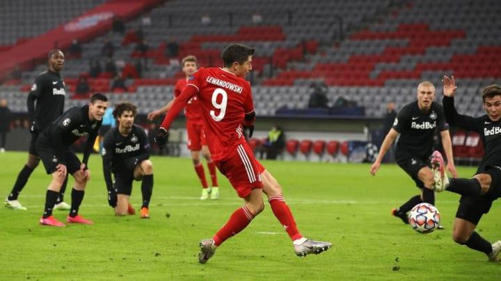 Robert Lewandowski Bayern de Munique RB Salzburg Champions League