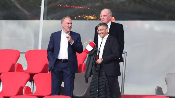 Herbert Hainer, Karl-Heinz Rummenigge, Uli Hoeness
