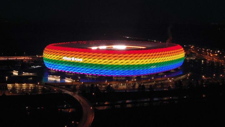 UEFA vetou iluminação com as cores do arco-íris na Allianz Arena