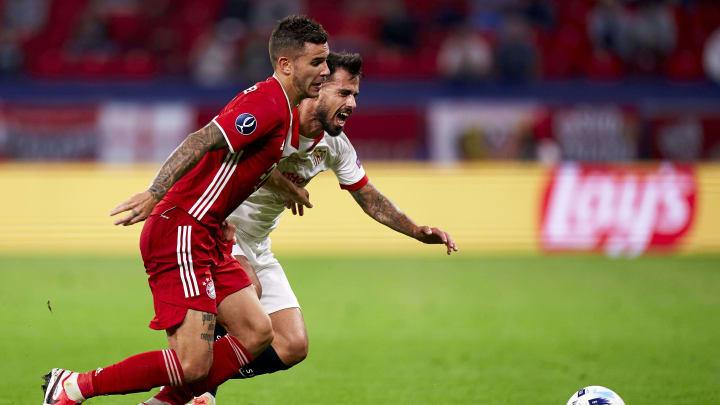 Starke Eigenwerbung: An Lucas Hernandez (vorne) gab es im UEFA-Supercup kein Vorbeikommen