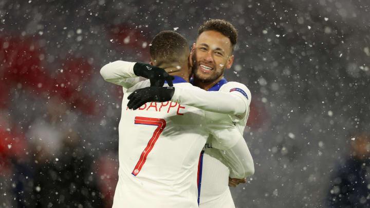 Neymar y Mbappé fueron protagonistas en el Bayern - PSG