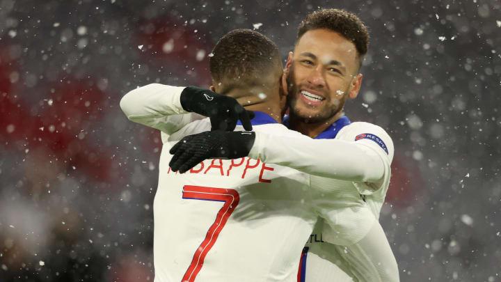 Neymar et Kylian Mbappé ont bravé la tempête de neige munichoise.